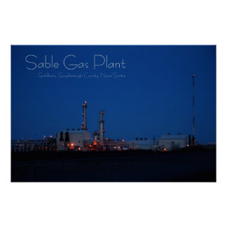 Sable Gas Plant, Goldboro, N.S. Poster