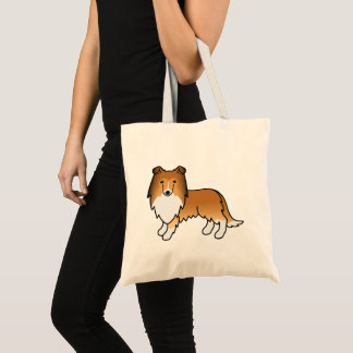 Sable Rough Collie Cartoon Dog Tote Bag