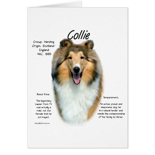 Sable Rough Collie Meet the Breed Card