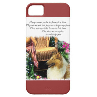 Sable Rough Collie Where Love Grows iPhone SE/5/5s Case