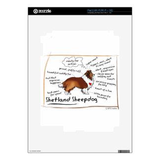 Sable sheltie skin for iPad 2