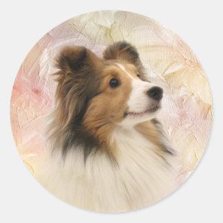 Sable Shetland Sheepdog Classic Round Sticker