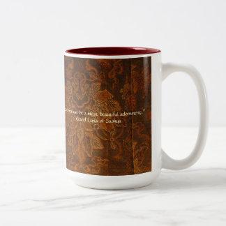 Sable Tapestry And Dalai Lama Quote Two-Tone Coffee Mug