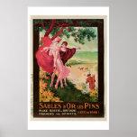 """""""Sables D'Or Les Pins, France"""" Vintage Print"""