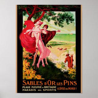 Sables d'Or les Pins Poster