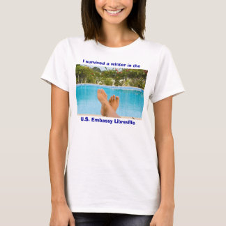 Sabliere Pool, I survived a winter in the U.S. ... T-Shirt
