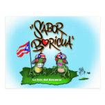 """Sabor Boricua """"Coqui"""" Postcard"""