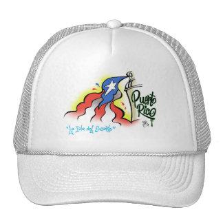 """Sabor Boricua """"mi bonita bandera"""" Baseball Cap Trucker Hat"""