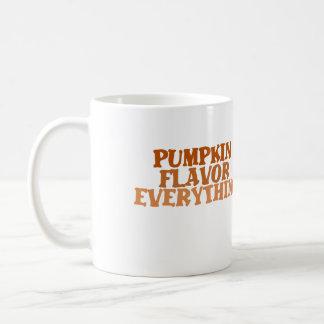 Sabor de la calabaza todo tazas de café