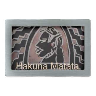 Sabor del bongo de Hakuna Matata Hebilla De Cinturon Rectangular