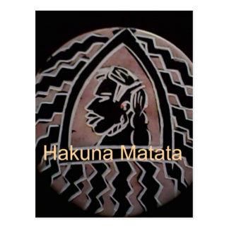 Sabor del bongo de Hakuna Matata Tarjetas Postales