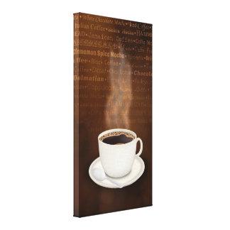 Sabores del café impresiones en lona
