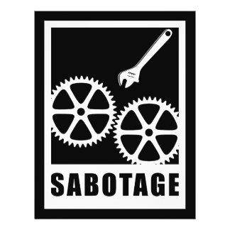 Sabotage Flyer