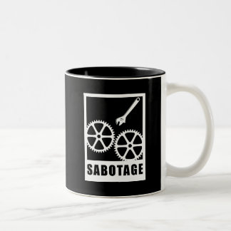 Sabotage Two-Tone Coffee Mug