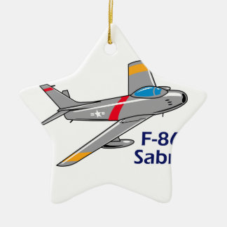 Sabre Jet Ceramic Ornament