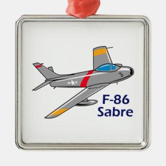 Sabre Jet Metal Ornament