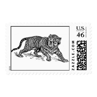 Sabre-Toothed Tiger Stamps