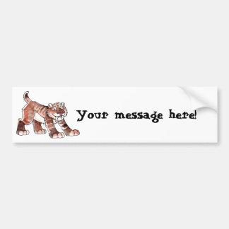 Sabretooth Tiger Bumper Sticker