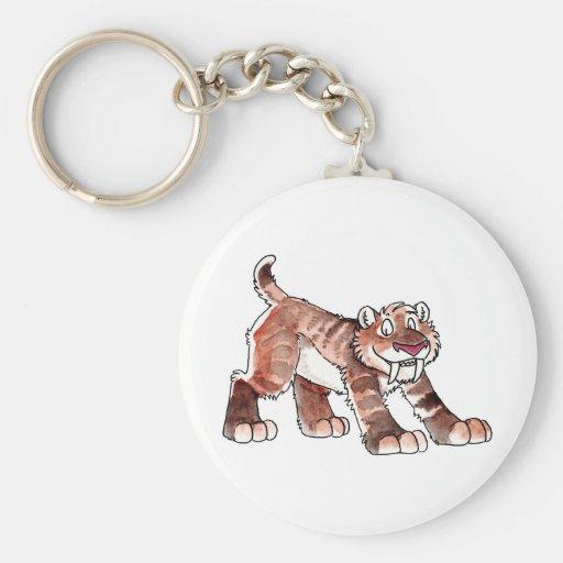 Sabretooth Tiger Keychain