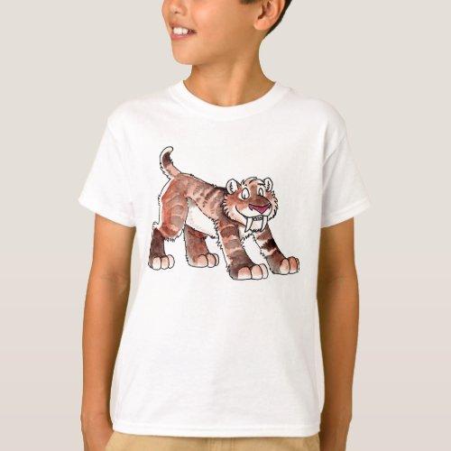 Sabretooth Tiger Kids T_Shirt