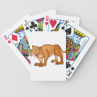SabreToothed Cat Bicycle Playing Cards