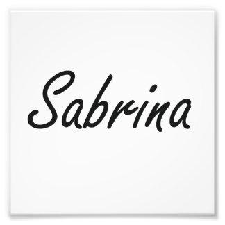 Sabrina artistic Name Design Photo Print