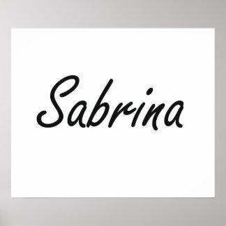 Sabrina artistic Name Design Poster