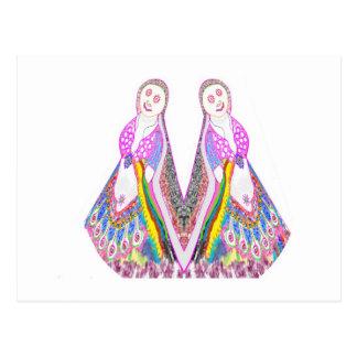 SABRINA  - Dancing Doll by Navin Postcard