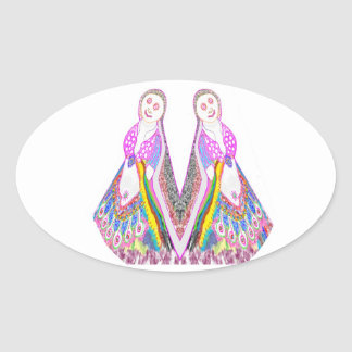 SABRINA  - Dancing Doll by Navin Oval Sticker