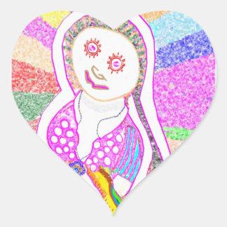 SABRINA  Dream Girl in Pink Heart Sticker