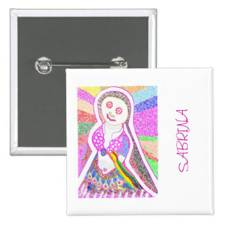 SABRINA  Dream Girl in Pink Pinback Button