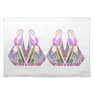 SABRINA  Dream Girl in Pink Placemat