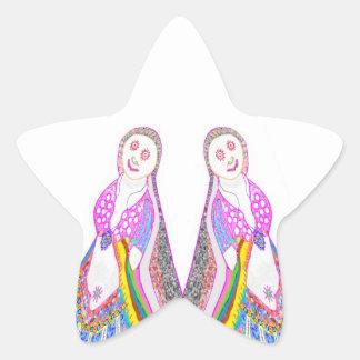SABRINA  Dream Girl in Pink Star Sticker