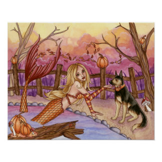 Sabrina - Fall Mermaid Poster