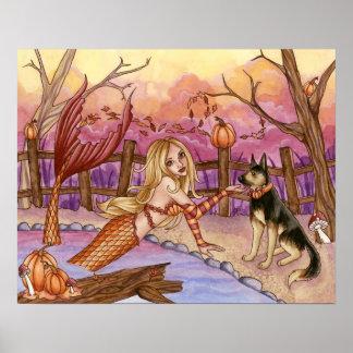 Sabrina - Fall Mermaid Poster