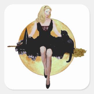 Sabrina, la bruja adolescente pegatina cuadrada