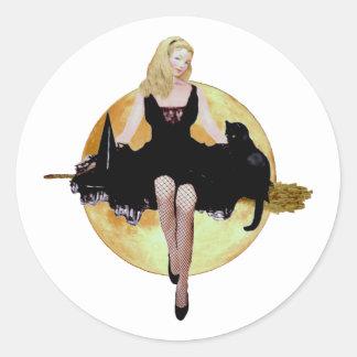 Sabrina, la bruja adolescente pegatina redonda