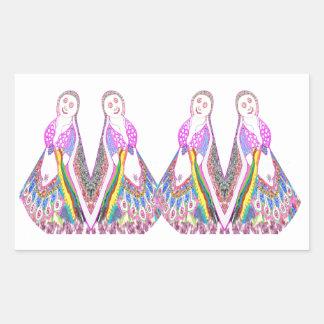 SABRINA - Muñeca del baile por Navin Pegatina Rectangular