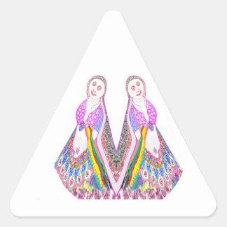 SABRINA - Muñeca del baile por Navin Pegatina Triangular