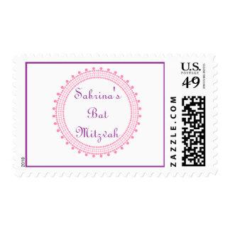 Sabrina Orli bat mitzvah wedding postage stamp