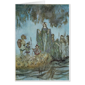 Sabrina Rises, attended by Water Nymphs Greeting Card