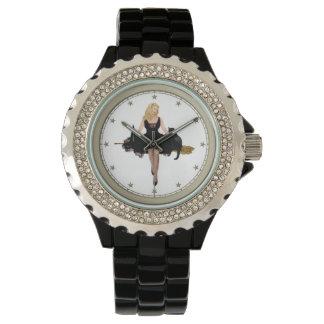 Sabrina the Teenage Witch on her Broom Wrist Watches