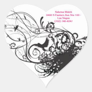 Sabrina Welch Heart Sticker
