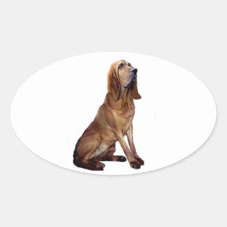 Sabueso (b) - El sentarse Colcomanias De Ovaladas