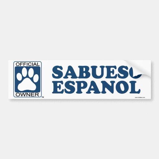 SABUESO ESPANOL_Blue Bumper Sticker