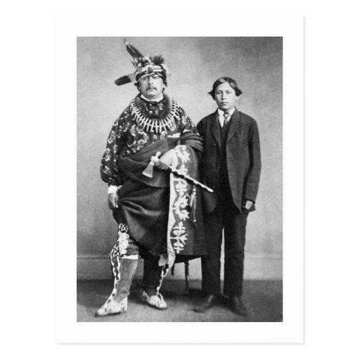 Sac and Fox Nation, 1868 Postcard