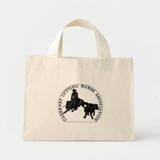 Sac Cabernet CHA Naturel Logo Noir Mini Tote Bag
