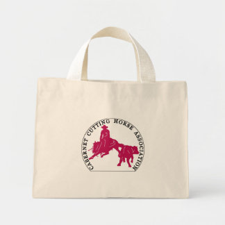Sac Cabernet CHA Naturel Logo Rose Mini Tote Bag
