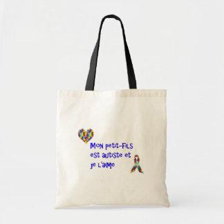 Sac Mon petit-fils est autiste et je l'aime Tote Bag