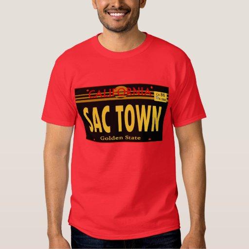 Sac Town Lincense Plate-- T-Shirt